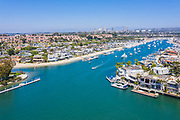 Ocean View Homes Along Balboa Island North Channel