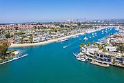 Ocean View Homes Along Balboa Island North Channel