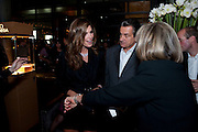 CINDY CRAWFORD; OMEGA President Stephen Urquhart,- CINDY CRAWFORD HOSTS  LAUNCH OF THE NEW OMEGA 2009 CONSTELLATION COLLECTION. Almada. Berkeley St. London. 15 October 2009