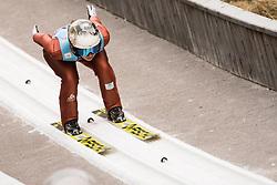 February 7, 2019 - Ljubno, Savinjska, Slovenia - Lea Lemare of France competes on qualification day of the FIS Ski Jumping World Cup Ladies Ljubno on February 7, 2019 in Ljubno, Slovenia. (Credit Image: © Rok Rakun/Pacific Press via ZUMA Wire)