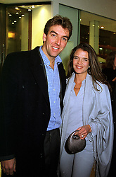 MR & MRS MEL COLEMAN she is tennis player Annabel Croft, at a party in London on 24th November 1999.MZI 39