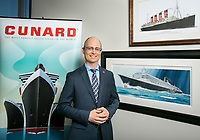 Stanley Birge, VP of North America Operations, Cunard, in his office in Valencia, CA. Aug. 14, 2014. Photo by David Sprague