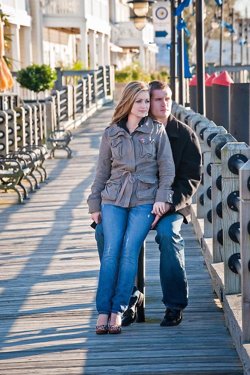 Wilmington NC Riverwalk Couple