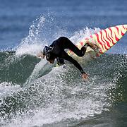 Joe Turpel surfing near Santa Barbara, CA. Model released.