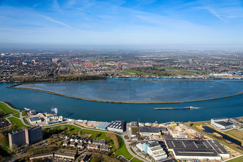 Nederland, Zuid-Holland, Hendrik-Ido-Ambacht, 01-04-2016; Sophiapolder, eiland in de rivier de Noord en de Rietbaan. Tegenwoordig is de voormalige polder onder water gezet en is het een natuureiland met zoetwatergetijden. Natuurcompensatie voor aanleg van Betuweroute en HSL.<br /> Former Sophia polder, now marshland nature island near Dordrecht. Between Dordrecht and Zwijndrecht.<br /> <br /> luchtfoto (toeslag op standard tarieven);<br /> aerial photo (additional fee required);<br /> copyright foto/photo Siebe Swart