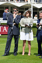 HRH PRINCESS EUGENIE OF YORK and JACK BROOKSBANK at the Qatar Goodwood Festival - Ladies Day held at Goodwood Racecourse, West Sussex on 30th July 2015.