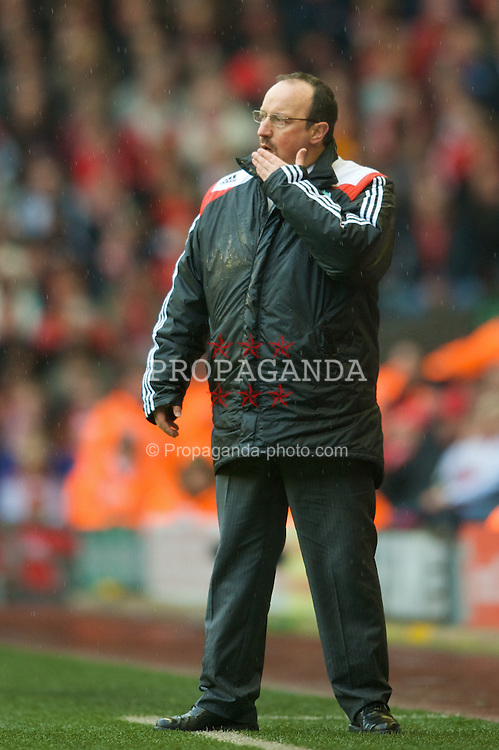 LIVERPOOL, ENGLAND - Saturday, March 8, 2008: Liverpool's manager Rafael Benitez during the Premiership match against Newcastle United at Anfield. (Photo by David Rawcliffe/Propaganda)
