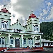 Church on Tutuila Island, American Samoa.