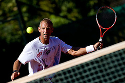 Austrian tennis player Thomas Muster at practice session one day before Round 1 of ATP Challenger  BMW Ljubljana Open 2010, on September 20, 2010,  in TC Ljubljana Siska, Slovenia.  (Photo by Vid Ponikvar / Sportida)