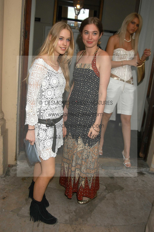 Left to right, Left to right, MARY CHARTERIS and ANOUSKA GERHAUSER daughter of Tamara Beckwith at the Tatler Summer Party in association with Moschino at Home House, 20 Portman Square, London W1 on 29th June 2005.<br /><br />NON EXCLUSIVE - WORLD RIGHTS