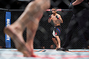 LAS VEGAS, NV - JULY 8:  John Moraga prepares to fight Matheus Nicolau during The Ultimate Fighter Finale at MGM Grand Garden Arena on July 8, 2016 in Las Vegas, Nevada. (Photo by Cooper Neill/Zuffa LLC/Zuffa LLC via Getty Images) *** Local Caption *** John Moraga
