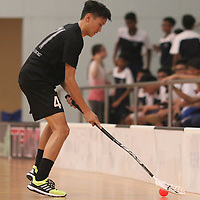 Yishun Sports Hall, 1st April 2016, Friday --- The teams exchanged leads throughout the game, but Victoria School (VS) eventually made a comeback in the third period to beat Coral Secondary School (CSS) 8-5 in the semi-finals of the National B Division Floorball Championship.