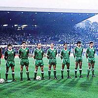 September 1986; Republic of Ireland team v Belgium. Hysel stadium, Brussells, Belgium. Soccer. Picture credit; Ray McManus / SPORTSFILE