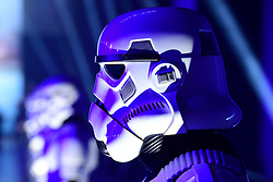 Stormtroopers attending the premiere of Rogue One: A Star Wars Story at the Tate Modern, London. PRESS ASSOCIATION Photo. Picture date: Tuesday December 13, 2016. See PA story SHOWBIZ Rogue One. Photo credit should read: Ian West/PA Wire