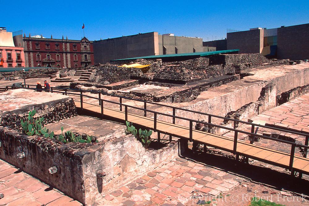 MEXICO, MEXICO CITY, AZTEC Great Temple, Templo Mayor in Zocalo