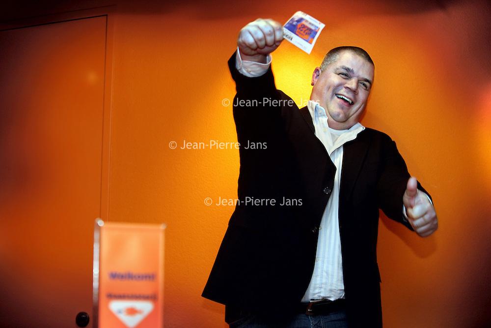 Nederland, Amsterdam , 16 december 2010..Staatsloterijwinnaarsbegeleider Arjan van der Veer ..Foto:Jean-Pierre Jans