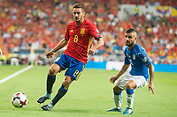 Spain's Koke Resurrección and Italy's Lorenzo Insigne during match between Spain and Italy to clasification to World Cup 2018 at Santiago Bernabeu Stadium in Madrid, Spain September 02, 2017. (ALTERPHOTOS/Borja B.Hojas)