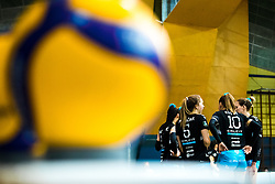 Players of Calcit Volley during 3rd Leg Volleyball match between Calcit Volley and Nova KBM Maribor in Final of 1. DOL League 2020/21, on April 17, 2021 in Sportna dvorana, Kamnik, Slovenia. Photo by Matic Klansek Velej / Sportida