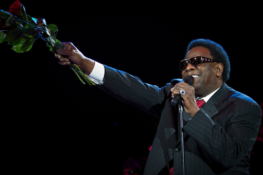 Legendary soul/gospel singer, and Rock and Roll Hall of Fame inductee, AL GREEN performs during the B.B. King Blues Festival at Red Rocks Amphitheater.