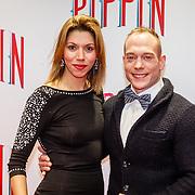 NLD/Amsterdam/20160310 - Premiere Pippin, Yuri van Gelder en partner Katarina Leal