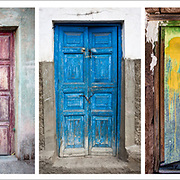 5 doors, taken in Peru and Bolivia, set in a panoramic compliment in color and texture.