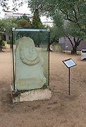 Columbarios Roman burial ground funerary monuments grave stones, Merida, Extremadura, Spain