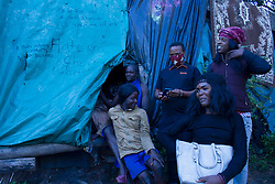 May 5, 2020, Johannesburg, Gauteng, South Africa: Sex workers from East Rand Johannesburg are in the middle of nowhere to go because for the lock down implemented in South Africa with no food and money. (Credit Image: © Manash Das/ZUMA Wire)