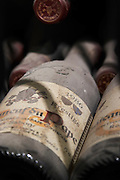 old bottles in the cellar 1986 cuvee prestige domaine roger sabon chateauneuf du pape rhone france