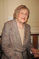 HILDA HOWARD mother of Michael Howard at a party to celebrate the publication of Sandra Howard's book 'Ursula's Stor' held at The British Academy, 10 Carlton House Terace, London on 4th September 2007.<br /><br />NON EXCLUSIVE - WORLD RIGHTS