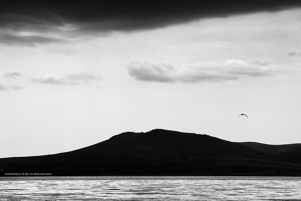 Hills of the Llyn Peninsula from Llanddwyn Beach on Anglesey