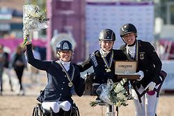 Tange Kaastrup Stinna, DEN, Den Dulk Nicole, NED, Rosenberg Alina, GER<br /> FEI European Para Dressage Championships - Goteborg 2017 <br /> © Hippo Foto - Dirk Caremans