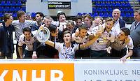 ROTTERDAM - De mannen van Rotterdam zijn kampioen door te winnen van Kampong in de finale. NK Zaalhockey hoofdklasse. FOTO KOEN SUYK