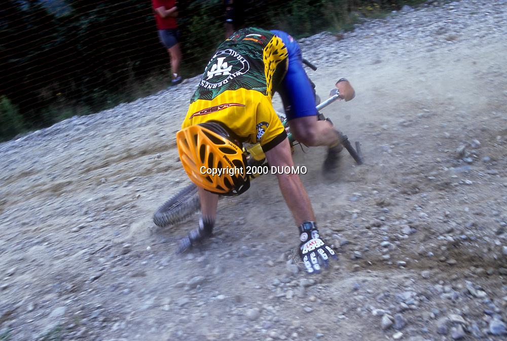 Injured mountain bicycllist.