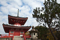 Daikakuji is an Esoteric Buddhism temple in Saga, Kyoto. It was once a villa of Emperor Saga.  The temple inherited the doctrine of the monk Kukai, also known as Kobo-Daishi, whose faith Emperor Saga embraced.  A school of ikebana, the Saga Goryu, maintains its headquarters in the temple.
