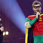 NLD/Amsterdam/20100415 - Uitreiking 3FM Awards 2010, Giel Beelen en Sander Lantinga