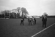 Irish Rugby Football Union, Ireland v England, Five Nations, Ireland practice at Old Belvedere, Dublin, Ireland, Friday 10th February, 1967,.10.2.1967, 2.10.1967,  ..Referee- D M Hughes, Welsh Rugby Union, ..Score- Ireland 3 - 8 England, ..Irish Team, ..T J Kiernan,  Wearing number 15 Irish jersey, Full Back, Cork Constitution Rugby Football Club, Cork, Ireland,..D Scott, Wearing number 14 Irish jersey, Right Wing, Queens University Rugby Football Club, Belfast, Northern Ireland, ..F P K Bresnihan, Wearing number 13 Irish jersey, Right Centre, University College Dublin Rugby Football Club, Dublin, Ireland, ..J C Walsh,  Wearing number 12 Irish jersey, Left Centre, Sundays Well Rugby Football Club, Cork, Ireland, ..N H Brophy, Wearing number 11 Irish jersey, Left wing, Blackrock College Rugby Football Club, Dublin, Ireland, ..C M H Gibson, Wearing number 10 Irish jersey, Stand Off, N.I.F.C, Rugby Football Club, Belfast, Northern Ireland, ..B F Sherry, Wearing number 9 Irish jersey, Scrum Half, Terenure Rugby Football Club, Dublin, Ireland, ..K G Goodall, Wearing number 8 Irish jersey, Forward, Newcastle University Rugby Football Club, Newcastle, England, ..M G Doyle, Wearing number 7 Irish jersey, Forward, Edinburgh Wanderers Rugby Football Club, Edinburgh, Scotland, ..N Murphy, Wearing number 6 Irish jersey, Captain of the Irish team, Forward, Cork Constitution Rugby Football Club, Cork, Ireland,..M G Molloy, Wearing number 5 Irish jersey, Forward, University College Galway Rugby Football Club, Galway, Ireland,  ..W J McBride, Wearing number 4 Irish jersey, Forward, Ballymena Rugby Football Club, Antrim, Northern Ireland,..P O'Callaghan, Wearing number 3 Irish jersey, Forward, Dolphin Rugby Football Club, Cork, Ireland, ..K W Kennedy, Wearing number 2 Irish jersey, Forward, C I Y M S Rugby Football Club, Belfast, Northern Ireland, ..T A Moroney, Wearing number 1 Irish jersey, Forward, University College Dublin Rugby Football Club, Dublin, Ireland, .
