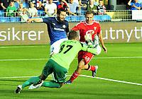 Fotball Herrer UEFA Europa League 2013<br /> Marienlyst Stadion Gamle Gress  18.07.2013<br /> <br /> Strømsgodset vs Debrecen<br /> <br /> Resultat 2 - 2<br /> <br /> Foto: Robert Christensen Digitalsport<br /> <br /> Strømsgodset Mounir Hamoud med mange sjanser i dag<br /> <br /> Debrecen keeper Istvan Verpecs