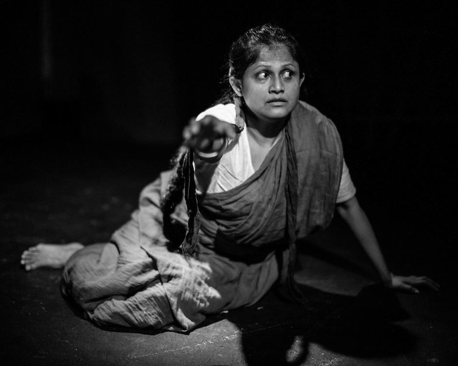 Leesa Ghazi in character the the play Birangona: Brave Women