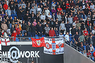 Bristol City fans enjoy the pre-match atmosphere before the EFL Sky Bet Championship match between Cardiff City and Bristol City at the Cardiff City Stadium, Cardiff, Wales on 28 August 2021.