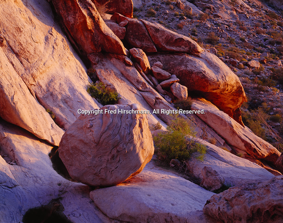 Sculpted boulder adjacent to Tinajas Atlas, an important water source in the Tinajas Atlas Mountains, Barry M. Goldwater Air Foce Range and Bureau of Land Management lands, Arizona