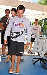 Phil Robertson, Skipper, WAKA Racing Team at the weigh-in. Photo:Chris Davies/WMRT