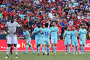 Barcelona Neymar celebrates his goal 1-0 with his team mates during the International Champions Cup match between Barcelona and Manchester United at FedEx Field, Landover, United States on 26 July 2017.