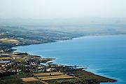 Israel, Lower Galilee, The Sea of Galilee as seen from Arbel mountain