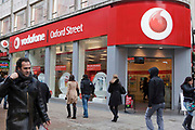 The Vodaphone flagship store on Oxford Street, London.