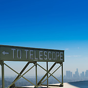 Telescope sign in Griffith observatory