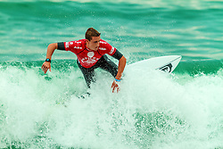 HUNTINGTON BEACH, CA - Matt Banting, who is still competing in the men's main event, claimed the Vans US Open Pro Junior with last-second heroics. The Australian posted an excellent 9.00 score on a Pierbowl right, vaulting the Australian from last to first over fellow Finalists Cam Richards (Garden City Beach, SC), 19, Joshua Moniz (Honolulu, HI), 18, and Miguel Tudela (PER), 19. 2014 Aug 2.  Byline, credit, TV usage, web usage or linkback must read SILVEXPHOTO.COM. Failure to byline correctly will incur double the agreed fee. Tel: +1 714 504 6870.