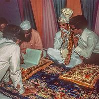 at a traditional Bengali wedding in Dhaka, Bangladesh.