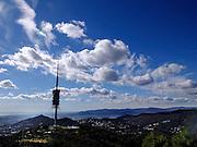 Spain, Barcelona, view from Parc d'Attraccions del Tibidabo