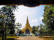 09 NOVEMBER 2014 - SITTWE, RAKHINE, MYANMAR:  Lokananda Paya, the main Buddhist pagoda (paya) in Sittwe, Myanmar. Sittwe is a small town in the Myanmar state of Rakhine, on the Bay of Bengal.  PHOTO BY JACK KURTZ