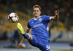 August 24, 2017 - Dynamo Tomasz KÄ™dziora in action during the Europa League second play-off soccer match between FC Dynamo Kyiv and FC Maritimo, at the Olimpiyskyi stadium in Kyiv, Ukraine, August 24, 2017. (Credit Image: © Anatolii Stepanov via ZUMA Wire)